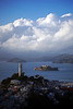 After the storm. Coit Tower, Alcatraz and Marin. February 26, Friday, San Francisco.